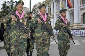 Bolivian soldiers